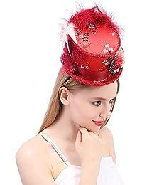 Screenes Sombrero Sombreros Fiesta Sombrero De Té Superior Mini Sombrero Rojo Estilo Simple Antiguo Y De