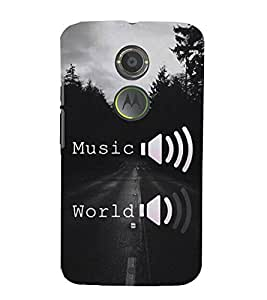 FUSON Headphones Equalizer Full Voulme 3D Hard Polycarbonate Designer Back Case Cover for Motorola Moto X2 :: Motorola Moto X (2nd Gen)
