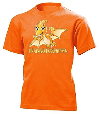 DINOSAURIER - PTERODACTYL 5190(K-ORA) Gr. 116 (Orange Triceratops Kostüm)
