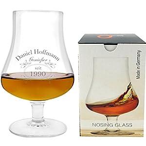 EIN Nosing Glass mit Whiskey Design inkl. Wunschgravur Gravur Wunschtext