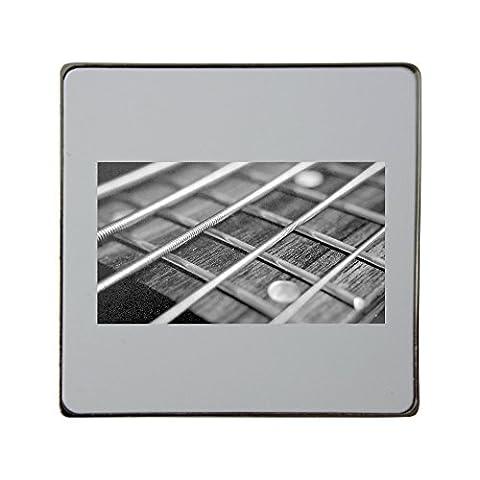 String, Bass, Guitar, Music, Rock, Sound metal square fridge magnet