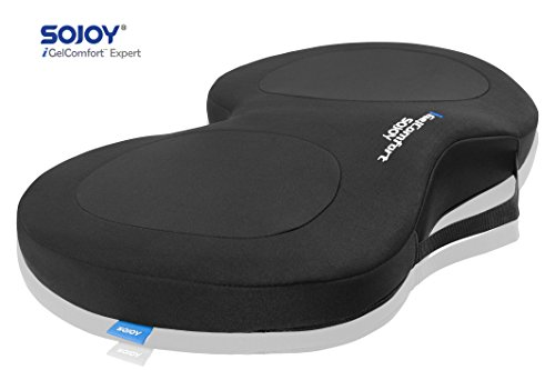 Preisvergleich Produktbild Sojoy igelcomfort Steißbein mit schönen Gesäß Gel und Memory Foam Sitzkissen für Rücken Schmerzlinderung, Steißbein Unterstützung