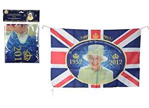 Diamond Jubilee Commemorative Flag FREE Support our troops badge