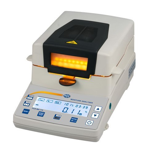 PCE Instruments Feuchtebestimmerwaage PCE-MA 110 Wägebereich: 110 g / Ablesbarkeit: 10 mg / 0,01