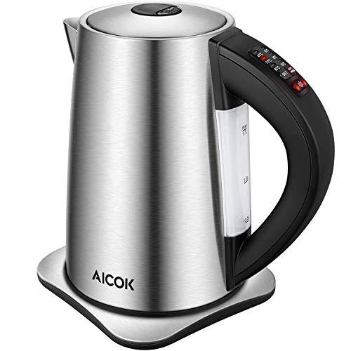 Aicok Bouilloire Électrique Thermostat Réglable, 6...
