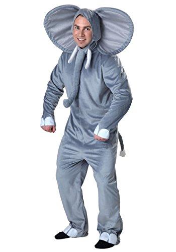 Elephant Kostüm Adult Grau - Plus Size Happy Elephant Kostüm - 3X