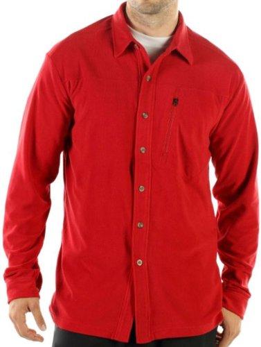 exofficio Herren tandiggity Fleece Long Sleeve Shirt Scharlachrot