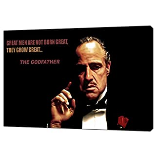 The Godfather Great Men are NOT Born Great Photo Print ON Framed Canvas Wall Art 34'' x 24''inch -38mm Depth