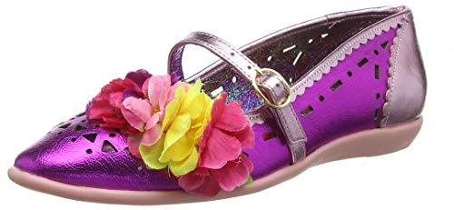 Irregular Choice Damen Pulchra Geschlossene Ballerinas, Multicolor (Pink B), 39 EU