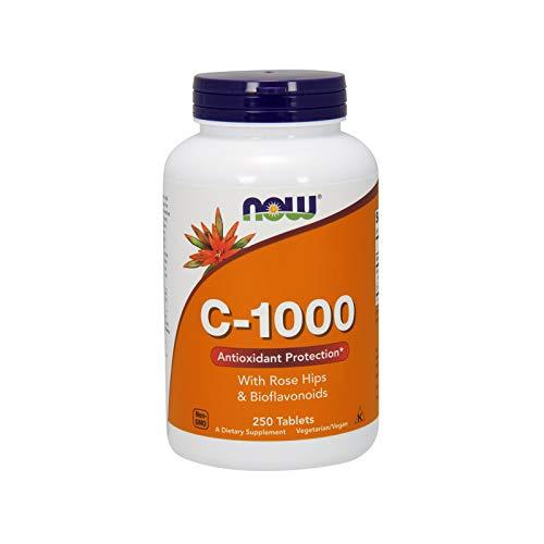 Now Foods I Vitamin C-1000 I Mit Hagebutten und Bioflavonoiden I Vegetarisch I Vegan I 250 Tabletten