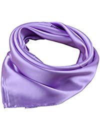 UK_Stone Unisexo Versátil Color Sólido 45% seda Bandana Pañuelo para la cabeza Fulares Bufanda de Cuello