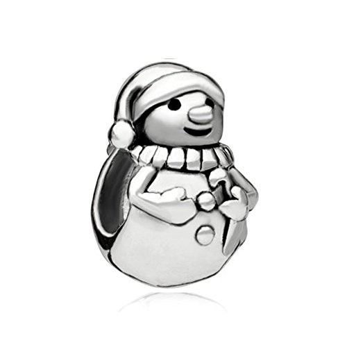 Charmsstory Snowmans Silver Plated Charm Beads Compatible With Charms For Bracelets By Charmsstory