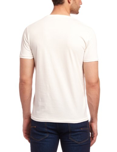 SELECTED HOMME Herren T-Shirt Regular Fit 16031172 Huntington o-neck Weiß (Faded white / Print:Hutington)