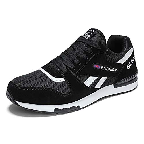 Brand Mens Shoes Casual Mesh Driving Shoes Sneakers for Men Shoes Leather Spring Fashion Men Causal Shoes Zapatos Hombre Black 8 -