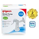 Pigeon Manual Breast Pump (White and Blue)