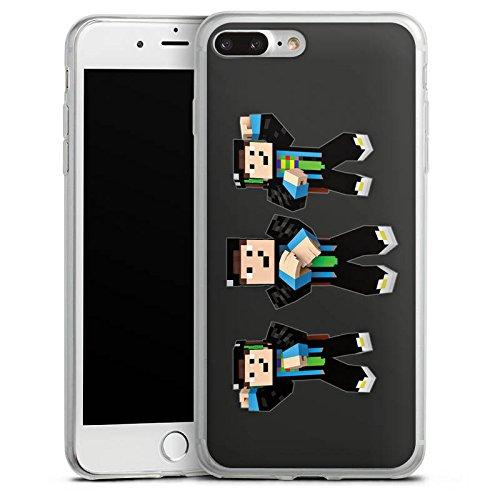Apple iPhone 8 Plus Slim Case Silikon Hülle Schutzhülle GommeHD Fanartikel Merchandise Gomme Style Silikon Slim Case transparent