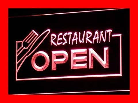 Enseigne Lumineuse i141-r OPEN Restaurant Display Bar Pub Neon Light Signs