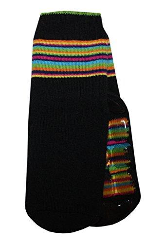 Weri Spezials Unisexe Bebes Voll-ABS-Turtle Chaussettes Colorful mondiale! Noir 12-24 Mois (19-22)