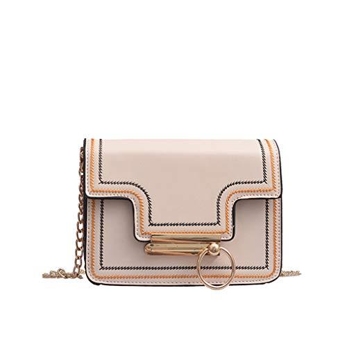 Mitlfuny handbemalte Ledertasche, Schultertasche, Geschenk, Handgefertigte Tasche,Frauen wilde Kuriertasche Mode eine Schulter kleine quadratische ()