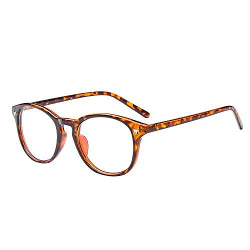 Forepin® Unisex klare Linse Brille Augen Durchsichtig Gläser Wechselgläser Nerdbrille Brillenfassungen
