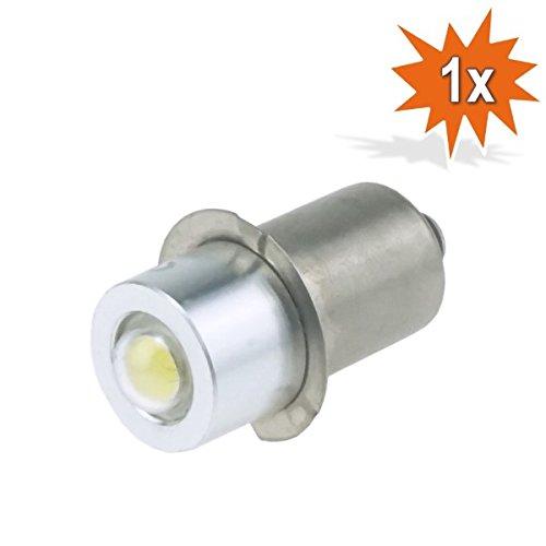 Do!LED P13.5s LED Cree Taschenlampe Lampe Weiss Birne 0,85 Watt 4 - 8 Volt, Wechselstrom- und Gleichstrombetrieb AC/DC -