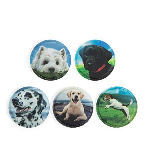 Ergobag Klettie Set Hunde, 5-teilig, passend für Pack/Cubo/Cubo Light/Ease/Mini
