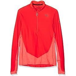 Puma L/S 1/2 Zip Top - Camiseta técnica para Hombre, Color Rojo, Talla XXL