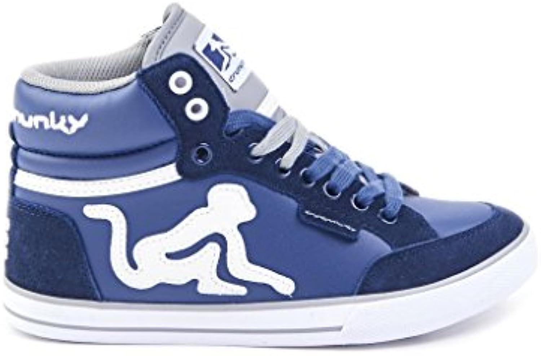 Drunknmumky - Zapatillas de Piel para hombre Azul Navy Grey *  -