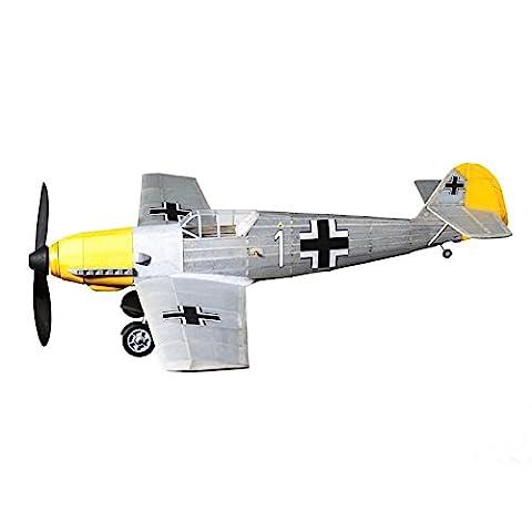 Messerschmitt ME-109 complete vintage model rubber-powered balsa wood aircraft kit that really