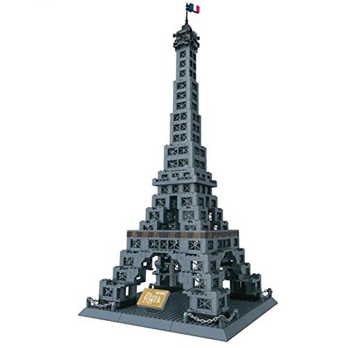 Unbekannt Eiffelturm – Tour Eiffel. Architektur Modell Zum Bauen mit 978 Bausteine