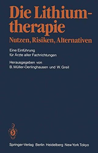 Cover »Die Lithiumtherapie«
