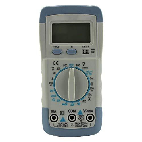 ZYX Multimeter, Handheld Multimeter, Multifunktionstest, Capacitation-Test, Voltmeter Ammeter Ohmmeter, Gray