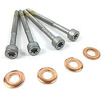 5x Kraftstoff Einspritzdüse Kupfer Dichtungsring + 5x Injektor Halterung, 6110170060, a0009902907
