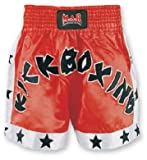 M.A.R International Ltd. Kick Boxen & Thai Boxing Shorts Kickboxen Hose MMA Hose Boxen Kleidung Muay Thai K1 GEAR Polyester Satin Stoff Rot Small rot
