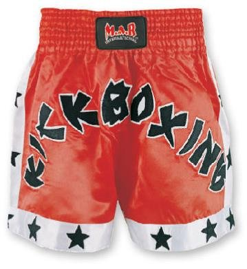 M.A.R International Ltd. Kick Boxen & Thai Boxing Shorts Kickboxen Hose MMA Hose Boxen Kleidung Muay Thai K1GEAR Polyester Satin Stoff Rot XS rot