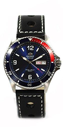 ORIENT 5 Deep Automatik Mako II Taucheruhr professional Diver Pepsi Tag Datum