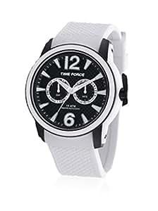 Time Force tf4182m18–Montre avec bracelet en caoutchouc pour homme, Blanc/Gris