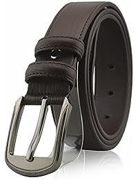SAMGU Neuf Ceinture en cuir mode loisirs boucle de ceinture en métal hommes Deux couleurs disponibles
