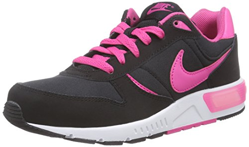 Nike Nightgazer (Gs), Chaussures de Running Entrainement Fille Noir (black/hot Pink/white)