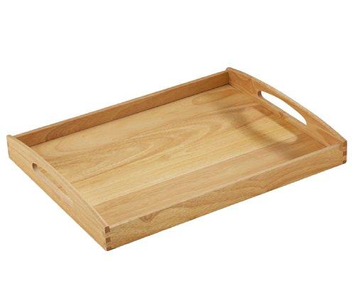 (Zassenhaus 50547 Tablett, 53 x 41 x 7 cm, Gummibaumholz)