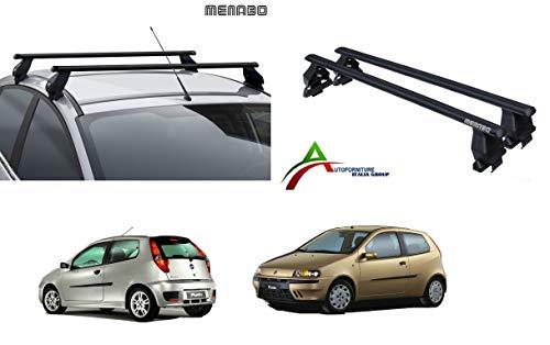 Barre PORTATUTTO Portapacchi da Tetto per Auto Senza RAILINGS, Sistema di Montaggio con Barre + Kit di Attacco SPECIFICO per Auto