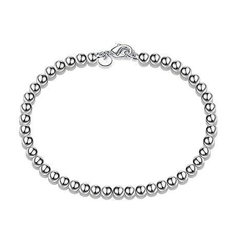aiuin encanto pulsera de perlas de moda hueca colgante pulsera cadena de pulsera de plata joyas para mujeres ni as fiesta x 1