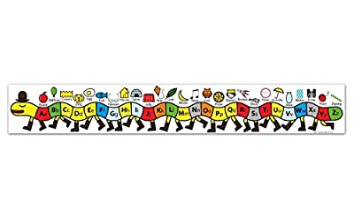 L' alfabeto Centipede–prima infanzia educazione materiale alphabet banner–printed on vinyl–100x 15cm by Tiger Moon