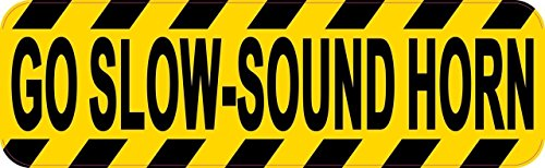 25,4 x 7,6 cm Go Slow Sound Horn Magnet von stickertalk®