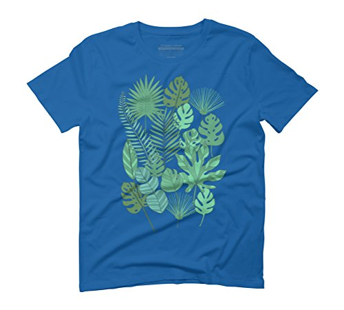 Tropical plantation Men's Graphic T-Shirt - Design By Humans Royal Blue