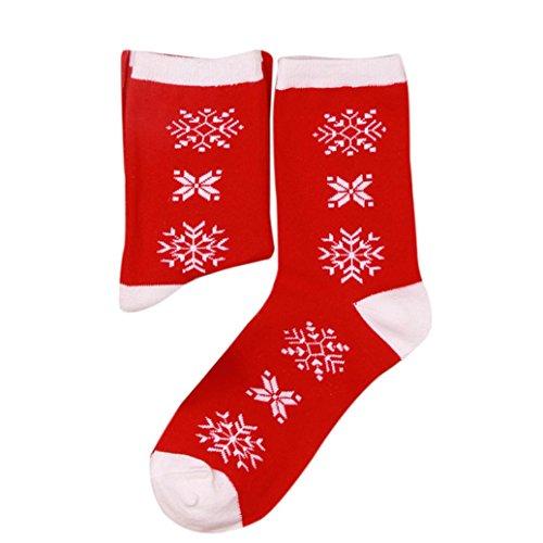 Lace Trim Mädchen Kurze (Socken Kolylong® 1 Paar Damen Mädchen Weihnachten Neuheit Socken Herbst Winter Warm Cartoon Socken Elastisch Sport Socken Mehrfarben Knöchelsocken Christmas stocking (E))