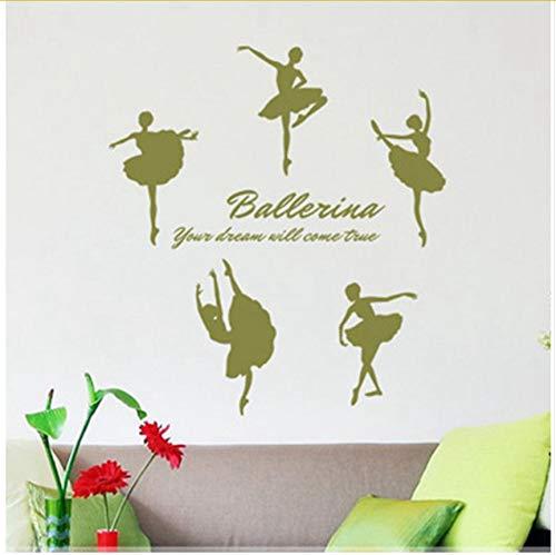 Ihr Traum Wird Wahr Werden Tanz Inspirierende Wand Zitate Aufkleber Für Ballett Mädchen Zimmer Dekor 55X40cm