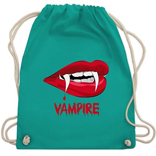 Halloween - Vampire Blut - Unisize - Türkis - WM110 - Turnbeutel & Gym Bag