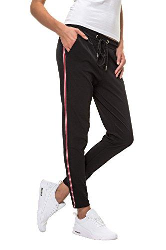 Hachiro Damen Hose Freizeithose 7/8-Hose Sportswear Style (XL, Red)