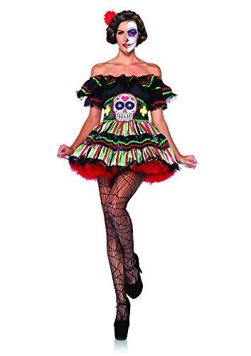The Of Doll Kostüme Day Dead (Leg Avenue 85293 - Kostüm für Erwachsene, Größe M/L,)